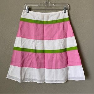 LondonJean Pink Green White Skirt 2